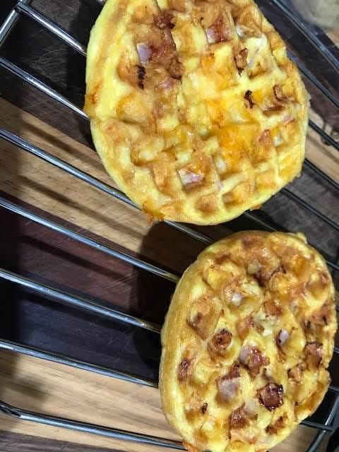 Ham, Egg & Cheese Chaffle