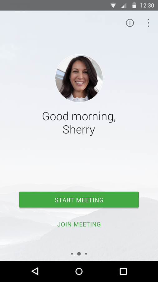 Cisco WebEx Meetings: captura de pantalla