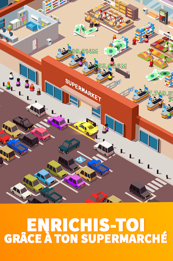 Idle Supermarket Tycoon - Jeu de gestion  captures d'écran 2