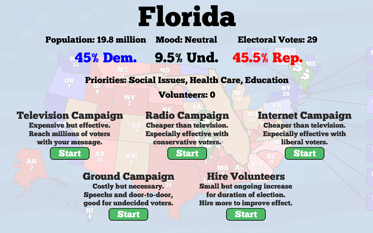 Campaign Manager - An Election Simulator- screenshot