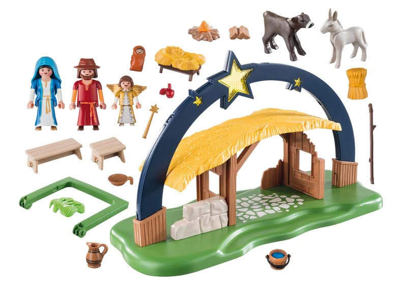 Contenido real de Playmobil® 9494 Belén con Luz