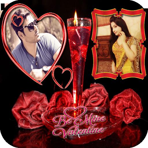 Valentine Day Dual Photo Frame