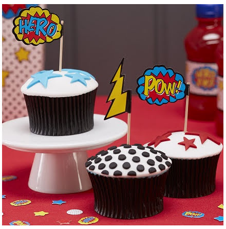 Cupcaketoppers - Comic Superhero