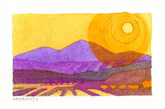 """Photo: """"Heartland"""", watercolor by Nancy Roberts, copyright 2015. Private collection."""