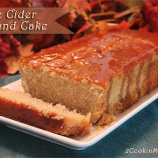 Apple Cider Pound Cake with Caramel Glaze