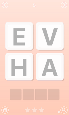 Words Puzzles Game in English - screenshot