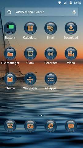 android The Sunset theme for APUS Screenshot 1