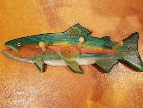 Photo: Thank you Paul Johnson for this beautiful painted fish-rack! We appreciate your continued support of our mission to find a treatment for FSH.