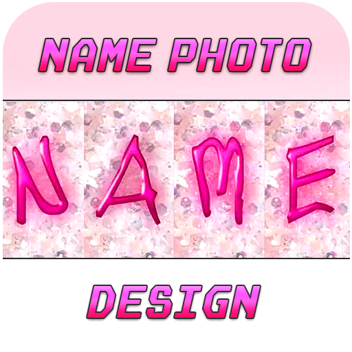 Name Photo designer-with candli shapes