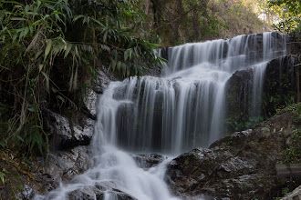 Photo: A smaller nearby waterfall - 1 second with an ND16 filter.