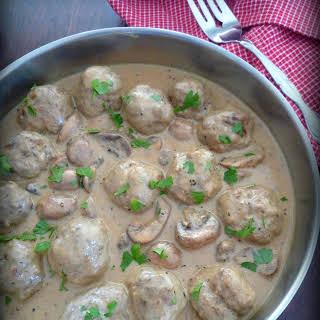 Swedish Meatballs with Egg Noodles.