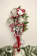 Photo: Moneyroses in a vase for Valentine's Day