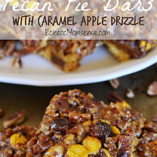 Pecan Pie Bars with Caramel Apple Drizzle