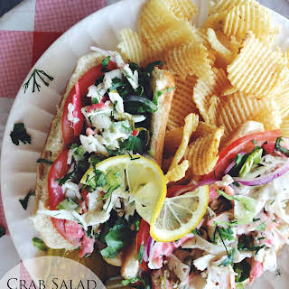 Crab Salad Roll & Cape Cod Chips.