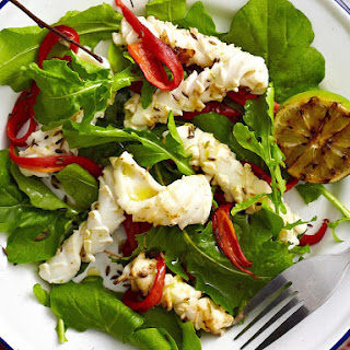 Grilled Squid and Arugula Salad