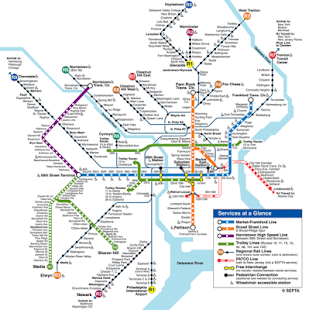 Subway Map Philadelphia