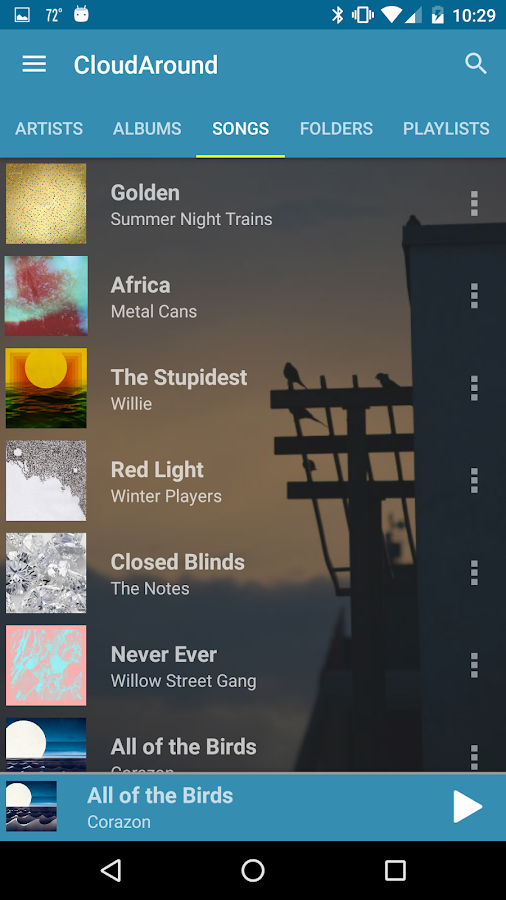CloudAround Music Player- screenshot