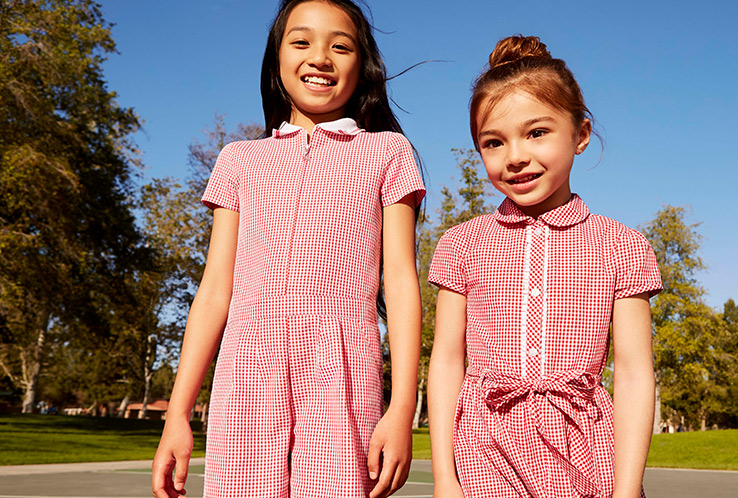 Give their school uniform a spring update