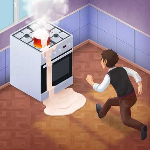 Family Hotel: Renovation & love storymatch-3 game Icon