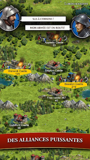 Code Triche Lords & Knights - MMO de stratu00e9gie mu00e9diu00e9val APK MOD screenshots 4