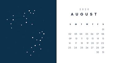 Constellation Monthly - Monthly Calendar template