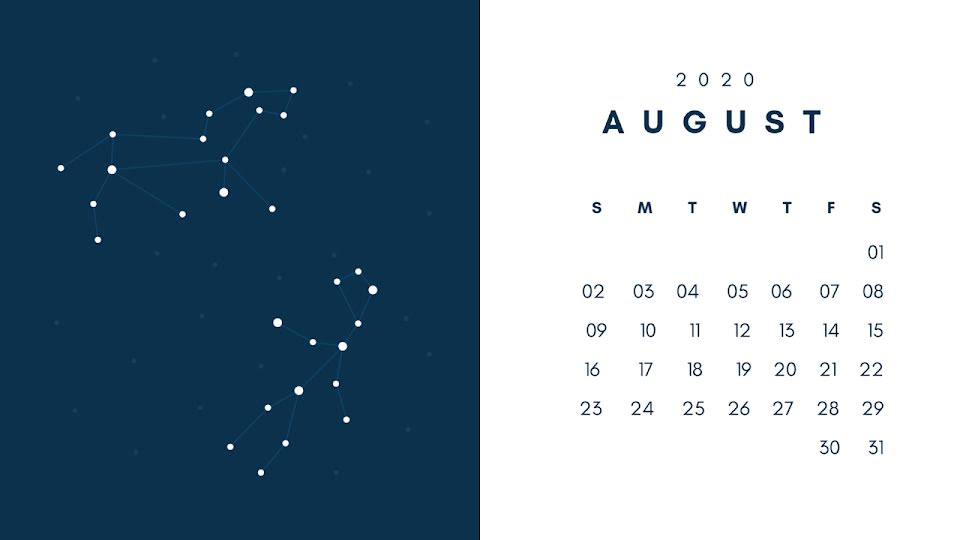 Constellation Monthly - Calendar Template