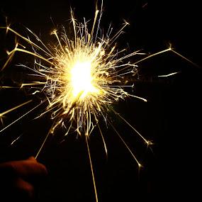 Sparks of Life by Niranjan Rajendran - Abstract Fire & Fireworks ( abstract, crackle, sparks, fire, works )