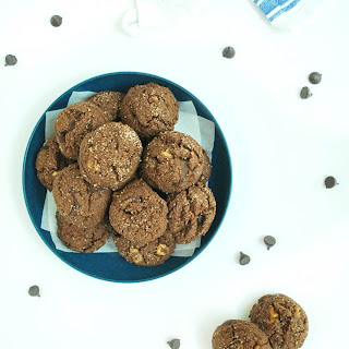 Double Chocolate Chunk Walnut Cookies (Gluten, grain, & dairy free)