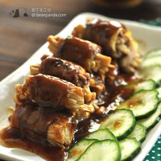 Sliced Beef with Enoki Mushrooms