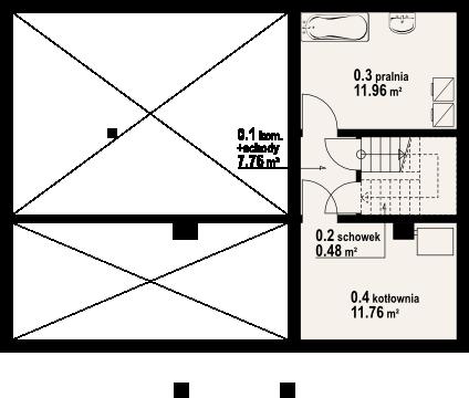 Chmielniki małe dw 19 - Rzut piwnicy