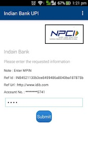 Indian Bank UPI- screenshot thumbnail