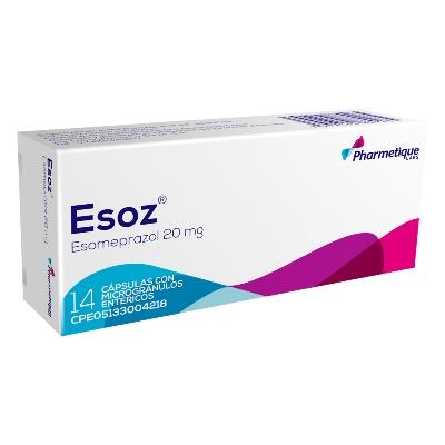 Esomeprazol Esoz 20 mg x 14 Cápsulas
