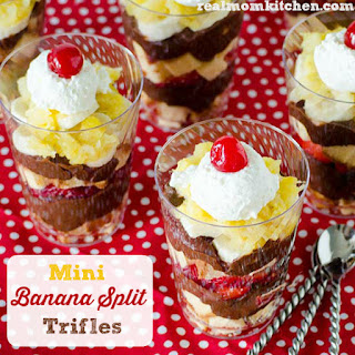 Mini Banana Split Trifles