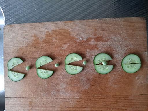 groenten opruimen