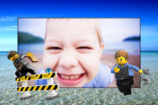 Police Toy Photo Frame