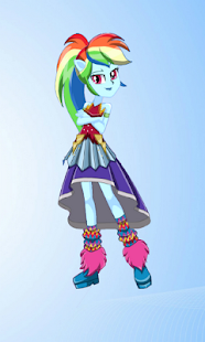 Dress Up Rainbow Dash MLPEGames - náhled