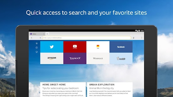 Yandex Browser with Protect- screenshot thumbnail