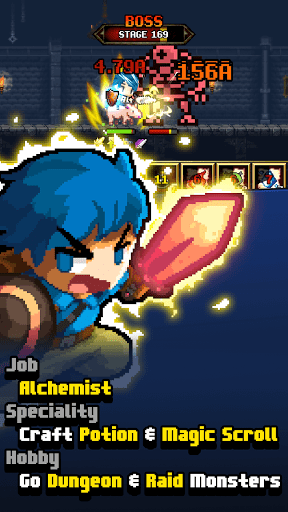 Dungeon & Alchemist - Incremental Idle Pixel RPG filehippodl screenshot 1