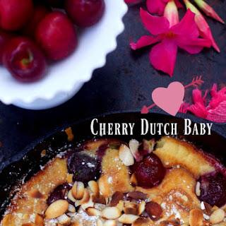 Almond Cherry Dutch Baby, Gluten Free