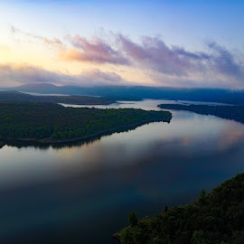 Greers Ferry Lake by VAM Photography - Landscapes Waterscapes ( sunrise, places, arkansas, aerial, lake, landscape )