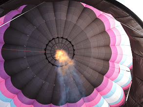 Photo: looking up into a balloon