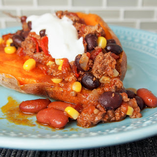 Baked Sweet Potatoes With Chipotle Chili