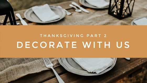Decorate with Us - Thanksgiving Template