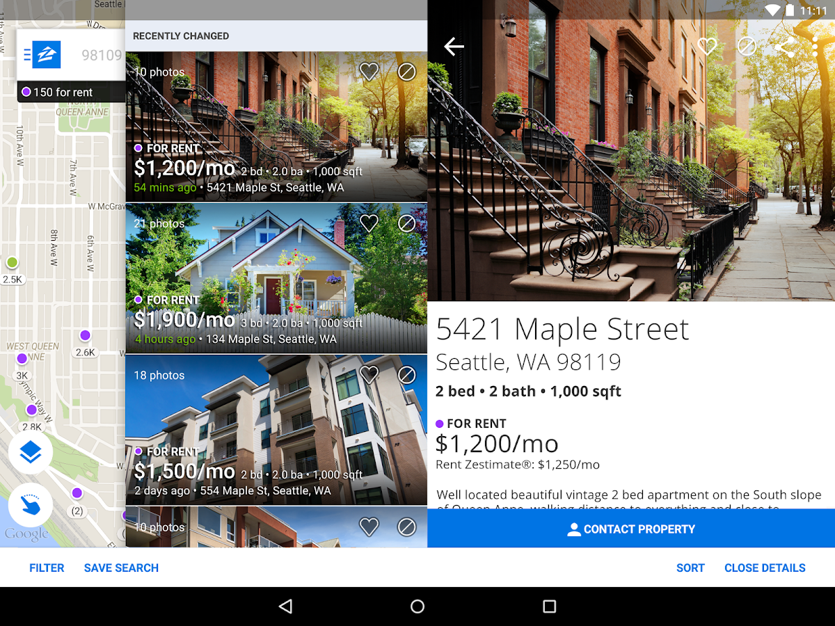 Apartments & Rentals - Zillow- screenshot
