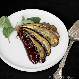 Roasted Eggplants with Fresh Herbs