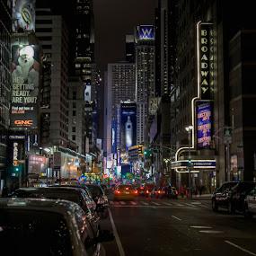 Broadway by Chip Bolcik - City,  Street & Park  Street Scenes