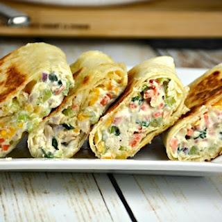 Easy Chicken Salad Snack Wraps Recipe