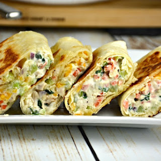 Easy Chicken Salad Snack Wraps.