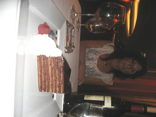The food on Oceania Marina is some of the best at sea especially this 7-layer cake at the Polo Grill