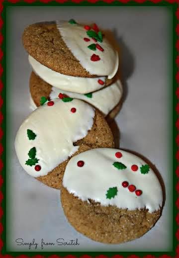 Festive Ginger Molasses Cookies
